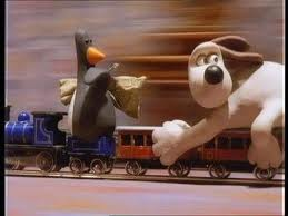 Penguin on a Train