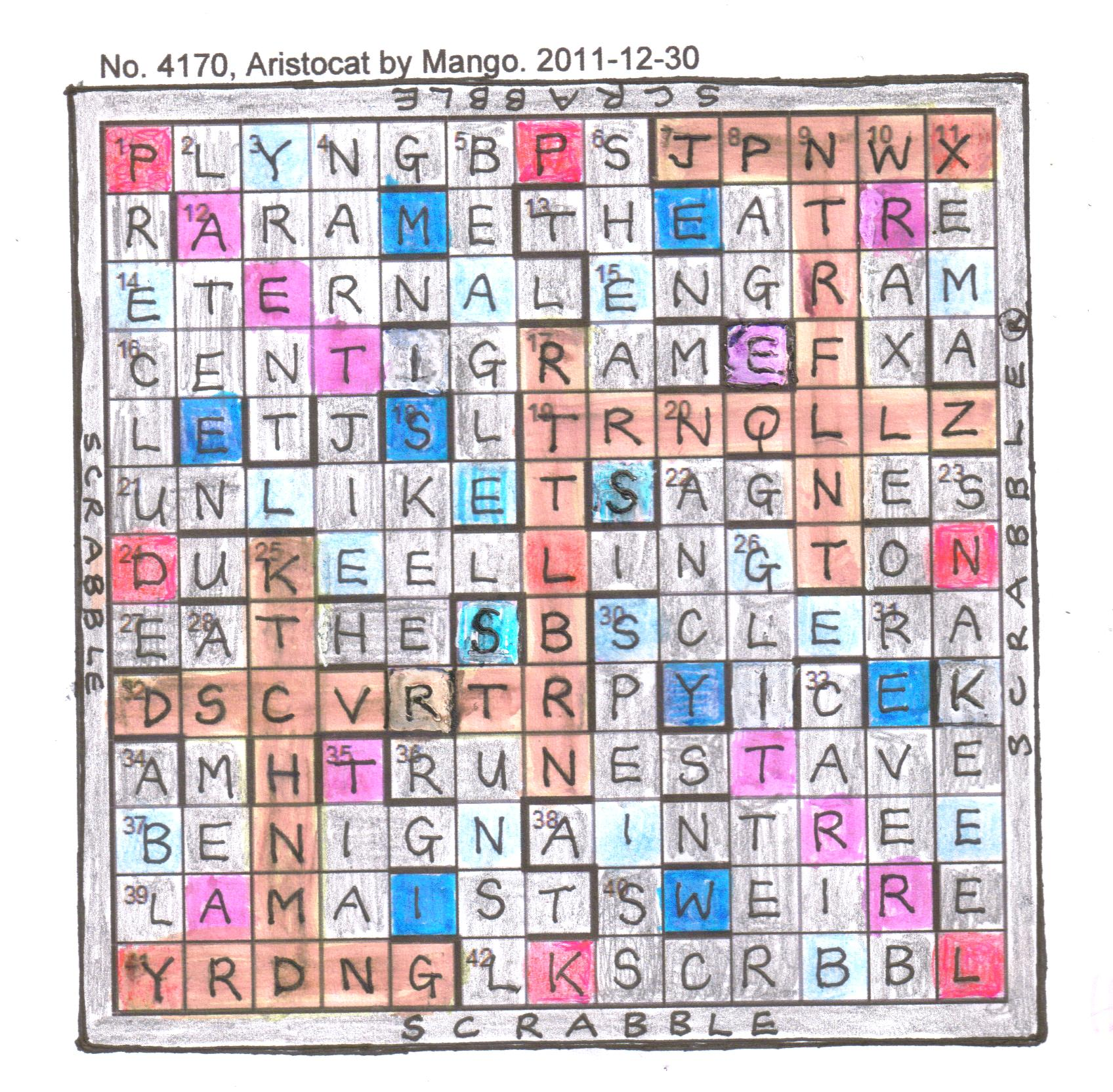 Letter Scrabble Words Without Vowels