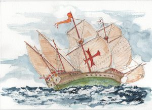Stately Spanish galleon