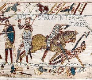 Tapisserie de Bayeux - Scène 57 : La mort d'Harold